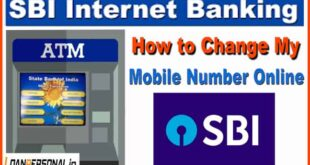 how to change registered mobile number in sbi using atm-min
